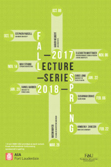 School of Architecture Fall 2017 Lecture Series Poster